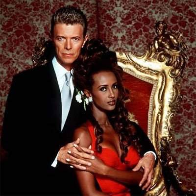 David Bowie and Iman Wedding