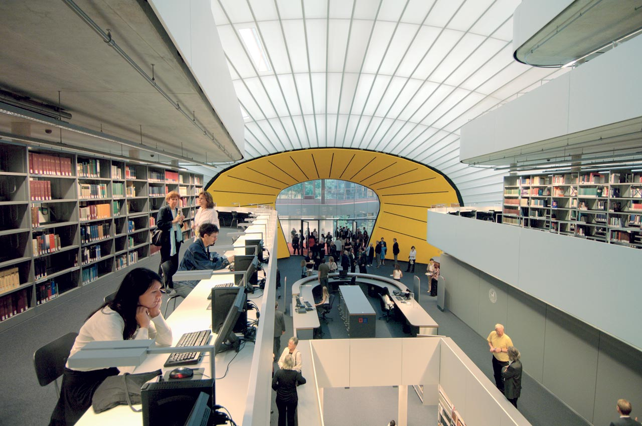 Library At The Freie Universit 228 T In Berlin By Norman